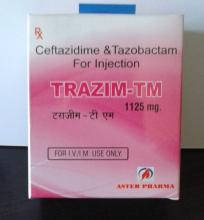 Ceftriaxone 1gm Tazobactum 125mg Injection